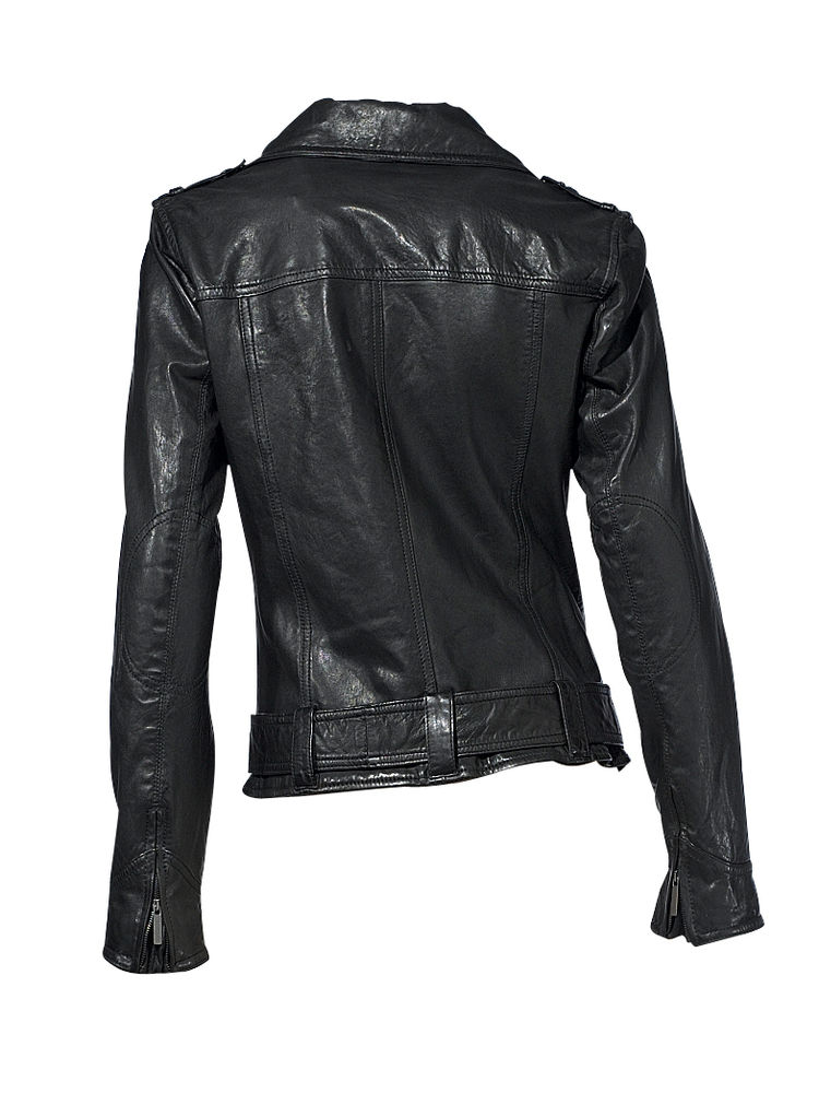 z4027 bikerjacke damen jacke lederjacke tom tailor schwarz. Black Bedroom Furniture Sets. Home Design Ideas